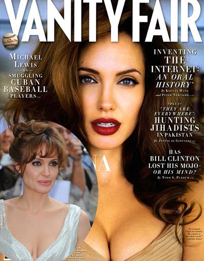 Анджелина Джоли (Angelina Jolie) - жертва фотошопа