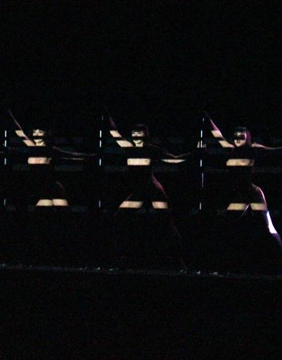 Световые эффекты на шоу Crazy Horse