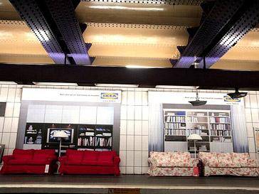 Диваны в парижском метро