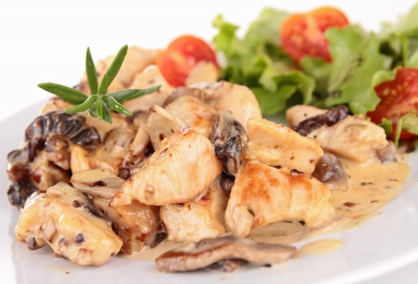 Курица с грибами рецепты