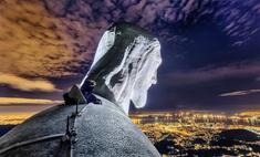 Новосибирский руфер залез на статую Христа в Рио-де-Жанейро