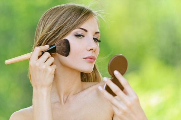 Прозрачная пудра макияж
