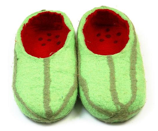 Тапочки-арбузы, дизайн: Галерейка