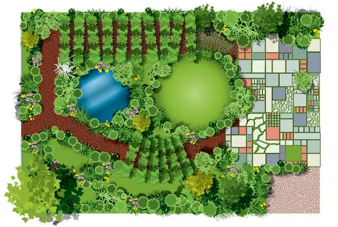 Украшаем сад своими руками фото