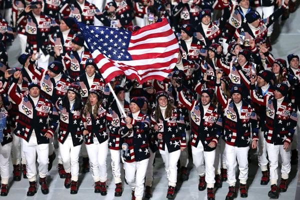 Сборная США в форме Ralph Lauren