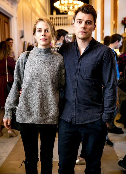 Маруся Зыкова с другом на кинофестивале