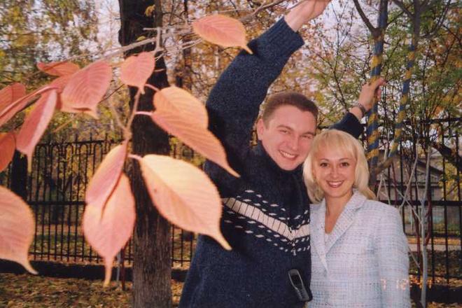 Павел Кузнецов с женой