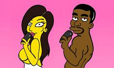 По образу Кардашьян и Уэста нарисовали Симпсонов