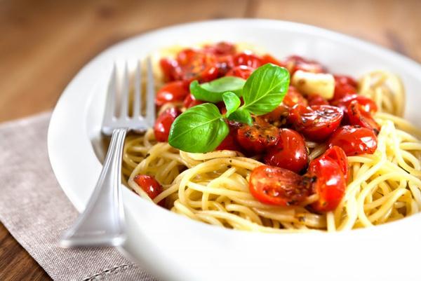 Рецепт спагетти с томатами