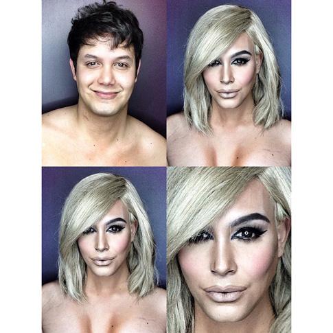 Визажист с помощью макияжа перевоплотился в Кардашьян