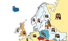 карта количество порнозвезд миллион странах европы россии