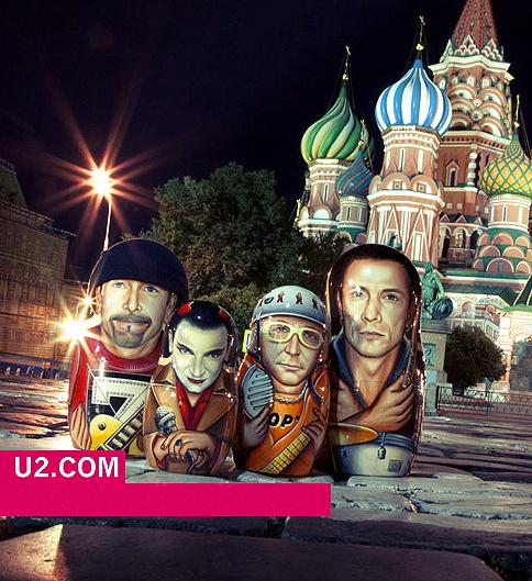 Незадолго до концерта в Москве на сайте U2 появилась тематическая картинка - группа подготовилась к приезду в Россию.