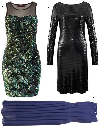 1. Платье Topshop; 2. платье Michael Michael Kors; 3. платье Topshop