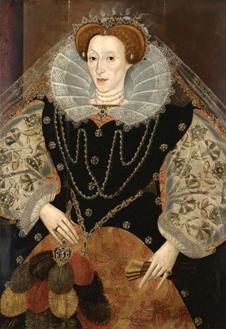 Портрет Елизаветы I с веером, ок. 1595 г. Неизвестный художник.