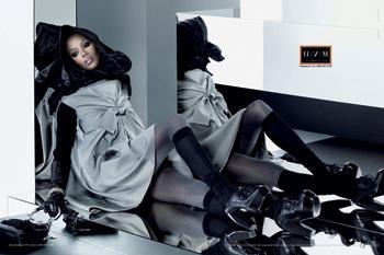 Наоми Кэмпбелл в рекламной кампании ЦУМа