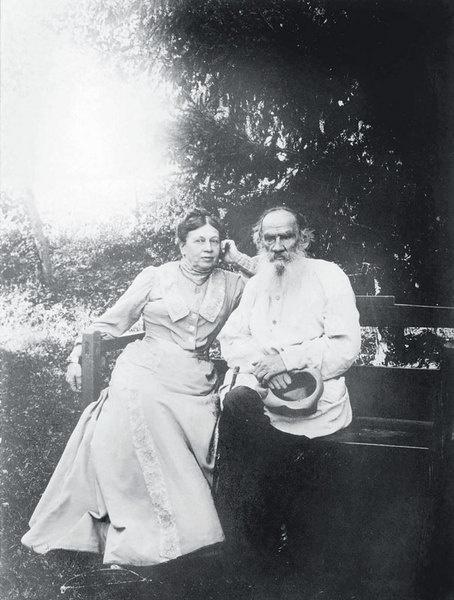 Толстой с Софьей Андреевной.