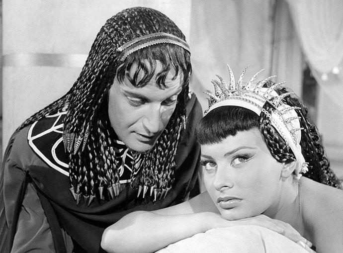 Софи Лорен в роли Клеопатры