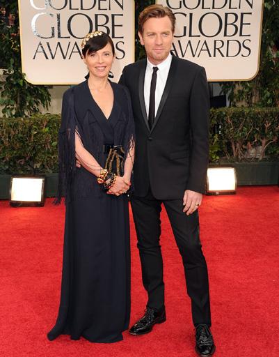 Эван МакГрегор (Ewan McGregor) с женой Ив Мавракис (Eve Mavrakis)