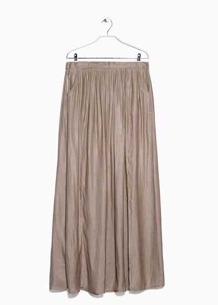 Длинная струящаяся юбка с двумя разрезами по бокам