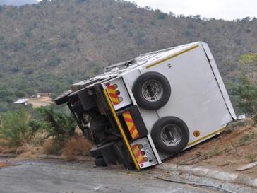Разбился автобус