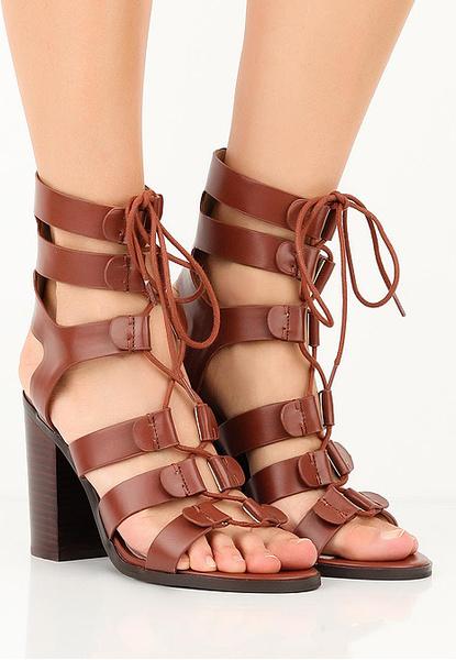 Босоножки Roman Ghille tie heeled Sandal, фото