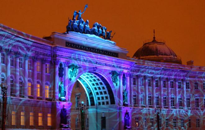 3D-шоу «Бал истории» на Дворцовой площади