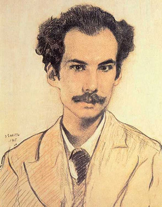 Портрет Андрея Белого кисти Леона Бакста, 1905 год