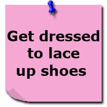 Надень туфли на шнурках