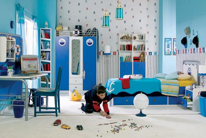 Обычную кровать несложно дополнить выдвижным спальным местом. Почти все детские коллекции предусматривают подобную опцию. Серия Mariner (Çilek). 79033 руб./композиция