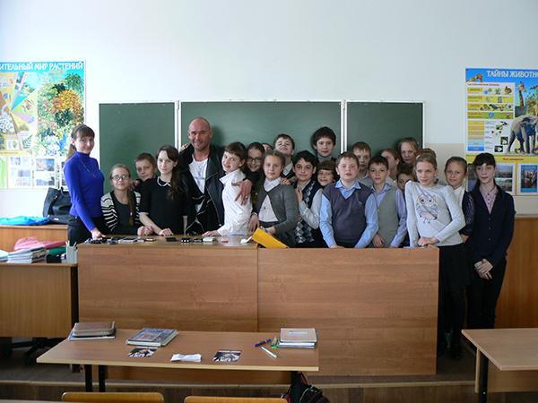 Максим Аверин и брянские школьники
