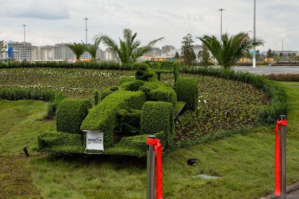 Олимпийский парк, зеленый болид