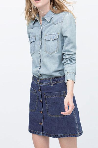 Капсульный гардероб - джинсовая рубашка