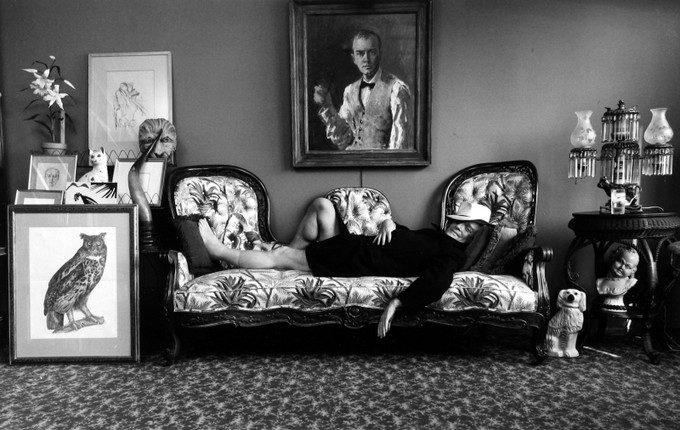 Арнольд Ньюман. Труман Капоте, Нью-Йорк, 1977