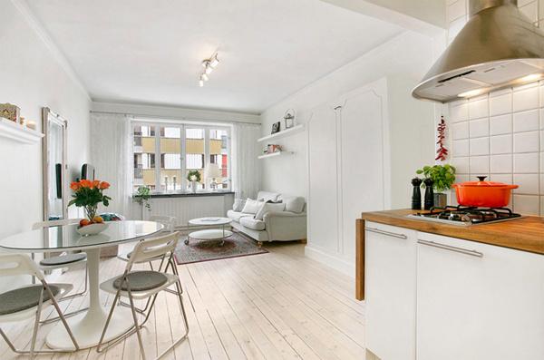 Красивый дизайн квартиры-студии фото