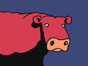 Кадр из мультфильма «Корова, которая хотела стать гамбургером»