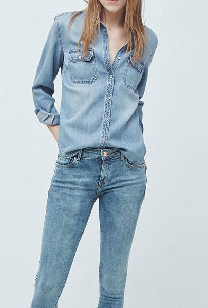 Рубашка, джинсы Mango, фото