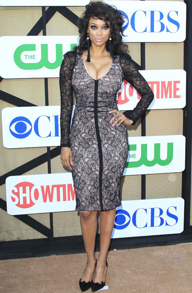 Тайра Бэнкс (Tyra Banks) на вечеринке CBS Showtime CW