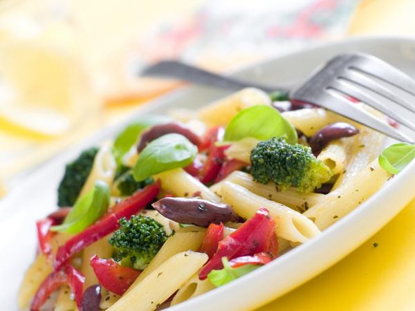 Овощи с макаронами