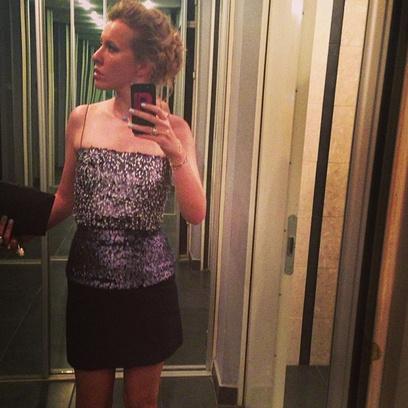 Ксения Собчак в Dior перед показом