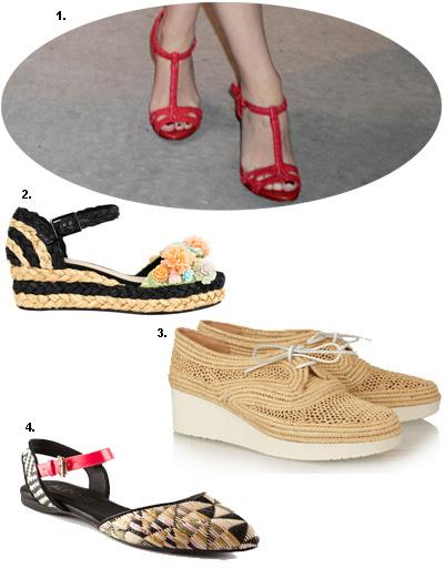 1. Кайли Миноуг; 2. босоножки Asos; 3. ботинки Robert Clergerie; 4. туфли Aldo