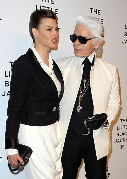 Карл Лагерфельд (Karl Lagerfeld) и Линда Евангелиста (Linda Evangelista)
