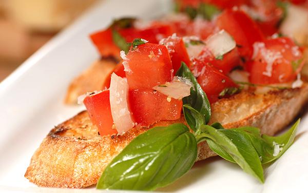 Итальянская кухня брускетта