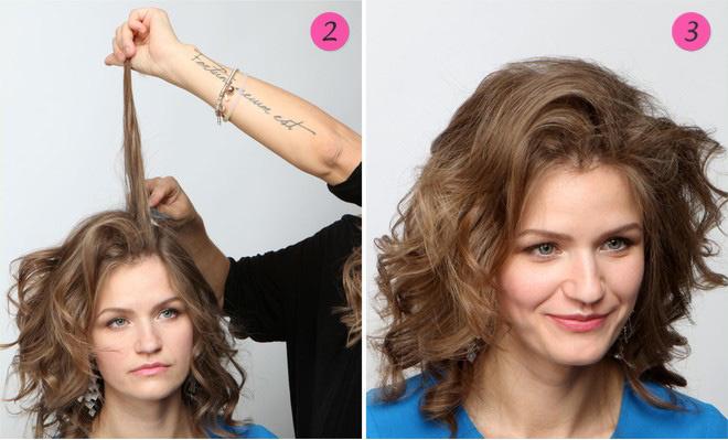 волосы собранные в пучок