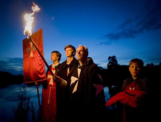 Факельное шествие мальтийских рыцарей