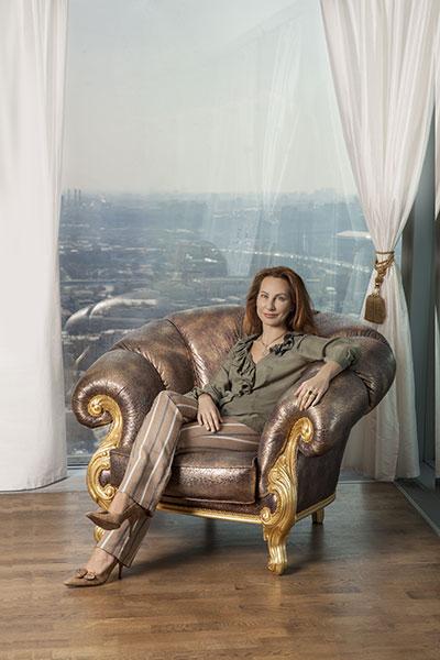 Ирина Никитина, президент фонда «Музыкальный Олимп», у себя дома