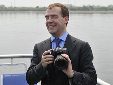 Дмитрий Медведев во время визита
