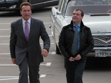 Арнольд Шварцнеггер (Arnold Schwarzenegger) и Дмитрий Медведев