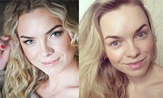 Красавицы без макияжа: сравни фото с косметикой и без