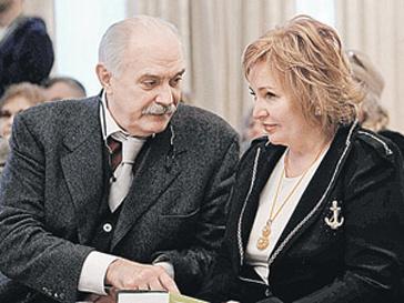 Никита Михалков и Людмила Путина на вручении премии