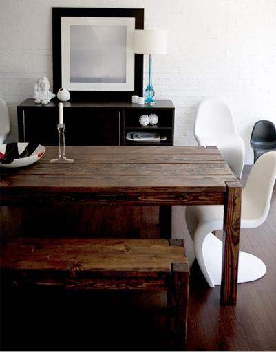 Мебель из необработанного дерева